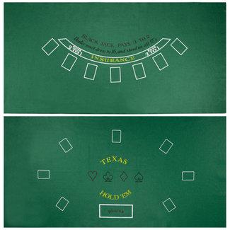 Blackjack and Texas Hold 'Em Felt
