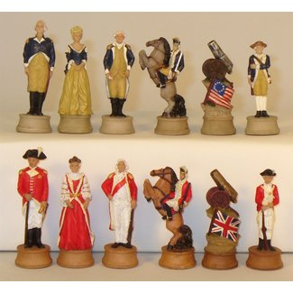 American Revolution Resin Chessmen