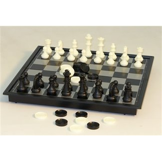 Magnetic Chess with Checkers