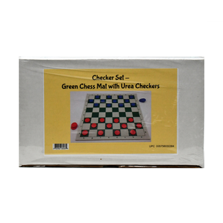 Checker Set - Vinyl Chess Mat with Urea Checkers