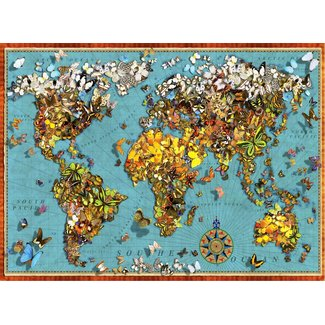 Anatolian Puzzles Butterfly World Map 1000 pc