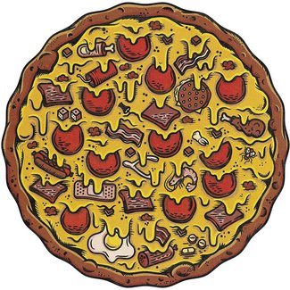 Stellar Factory Pizza Puzzles Meat Lover's 550 pc