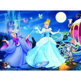 Ravensburger Adorable Cinderella Glitter Puzzle 100 pc