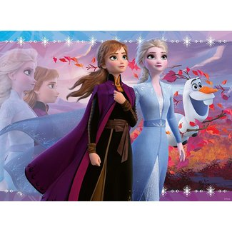 Ravensburger Frozen 2: Strong Sisters Glitter Puzzle 100 pc