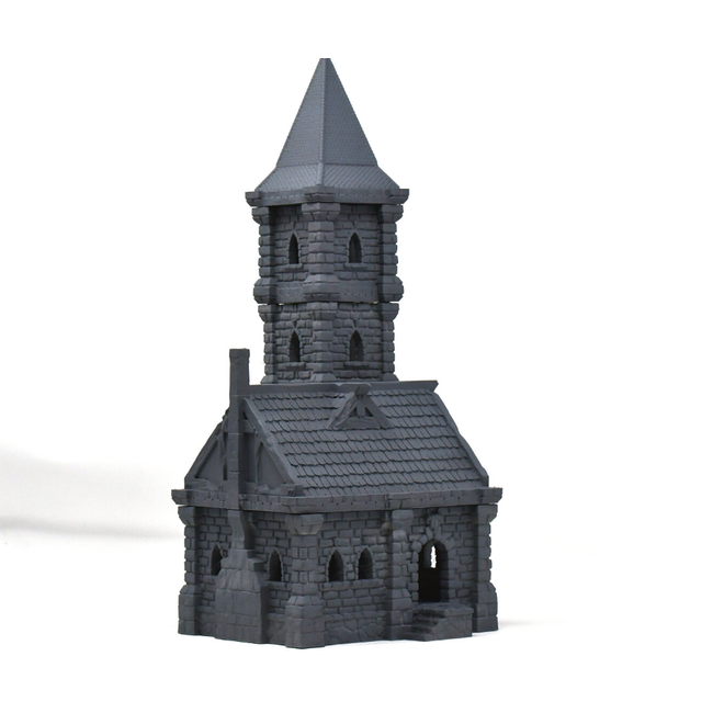 Small Building with Tower