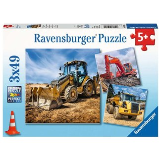 Ravensburger Digger at Work 3 x 49 pc