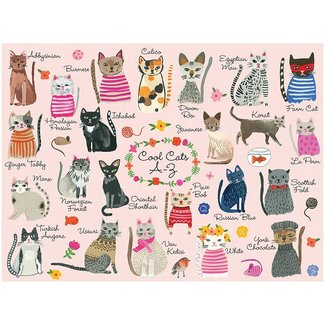 Mudpuppy Cool Cats A to Z 1000 pc
