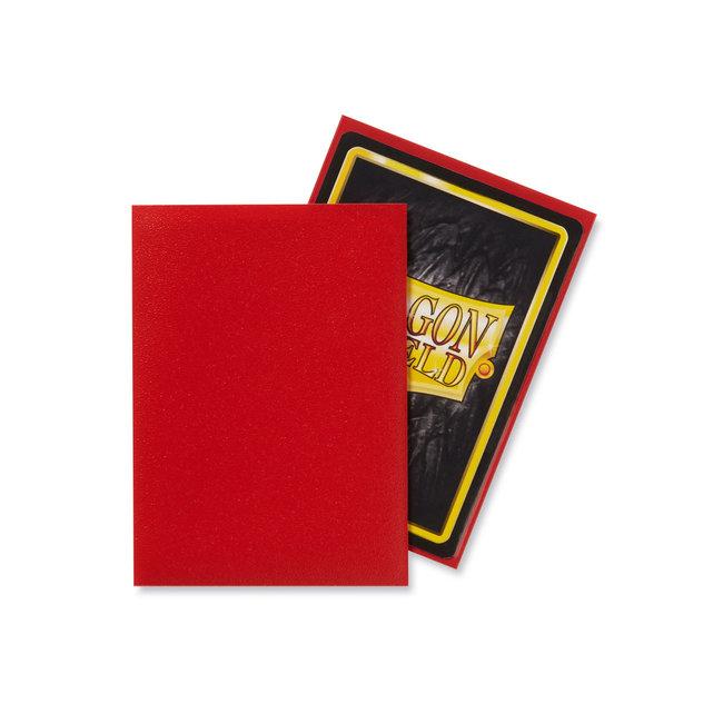 Crimson Standard Matte Sleeves 100 ct - Dragon Shield
