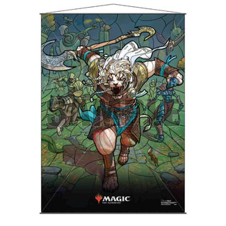 Ultra Pro Ajani MTG Stained Glass Wall Scroll