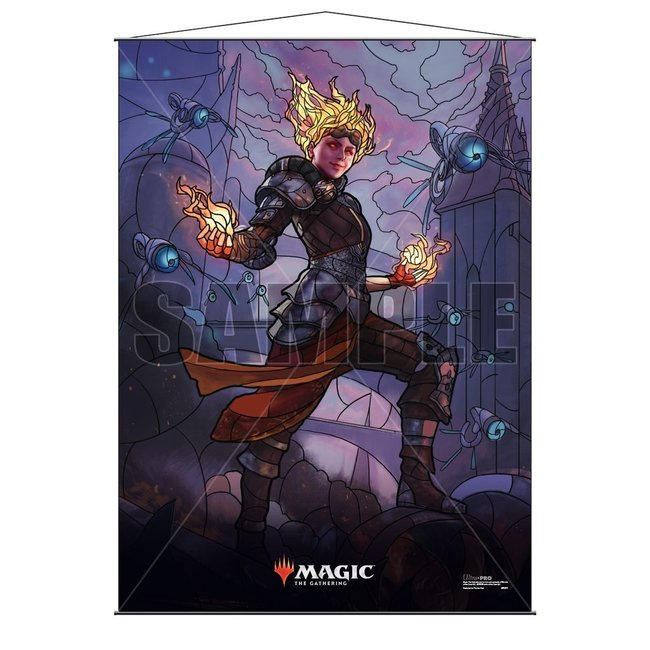 Chandra MTG Stained Glass Wall Scroll