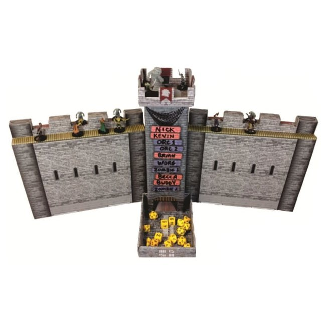 Castle Keep RPG Dice Tower and DM screen combo