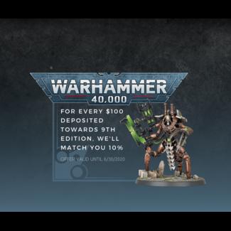 Cape Fear Games Warhammer 40K 9th Edition Credit
