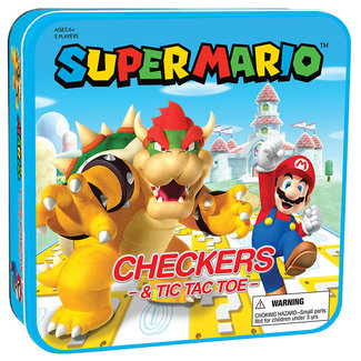 USAopoly Super Mario Checkers & Tic Tac Toe Bowser