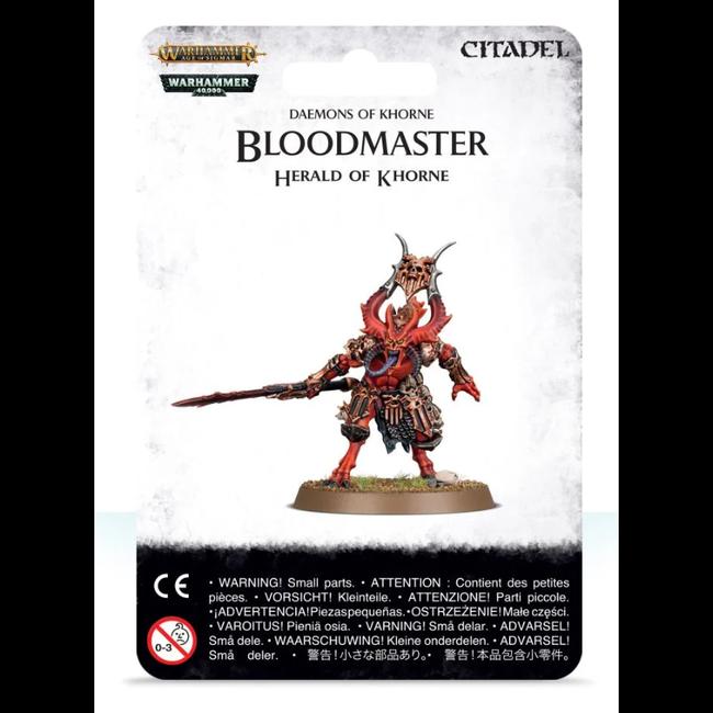 AoS Daemons of Khorne Bloodmaster Herald of Khorne
