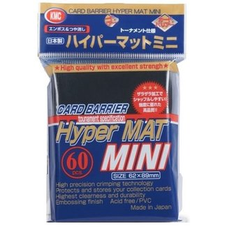 KMC Black Hyper Mat Mini  Sleeves 60 ct - KMC