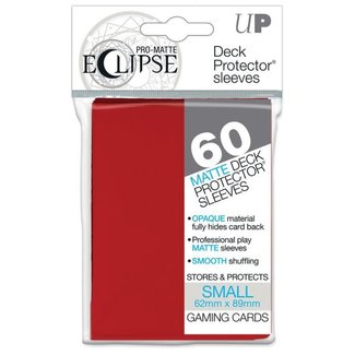 Ultra Pro Apple Red Matte Small Sleeves 60 ct - Eclipse Pro