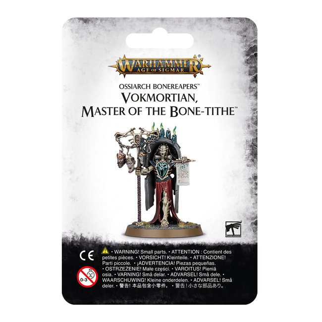 AoS Ossiarch Bonereapers Vokmortian Master of the Bone-Tithe