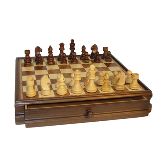 Worldwise Imports 15'' Wooden Chest Chess Set