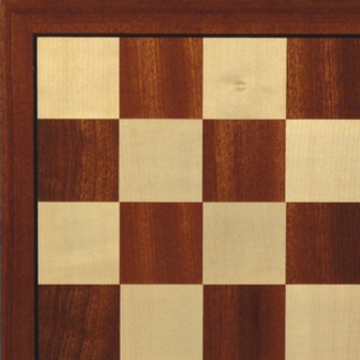 "Worldwise Imports 15.75"" Sapele & Maple Veneer Chess Board"