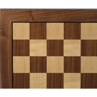 "Worldwise Imports 14"" Walnut and Maple Chess Board"