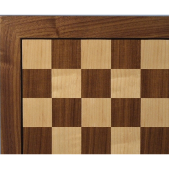"""14"""" Walnut and Maple Chess Board"""
