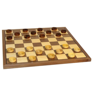 "Worldwise Imports 12"" Wood Checker Set"