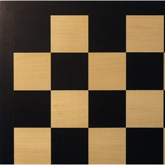 "Worldwise Imports 17.25"" Black Maple Veneer Chess Board"