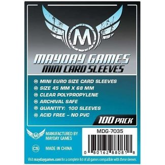 Mayday Games, Inc. Mayday 45x68 mm Mini Euro Sized Sleeves