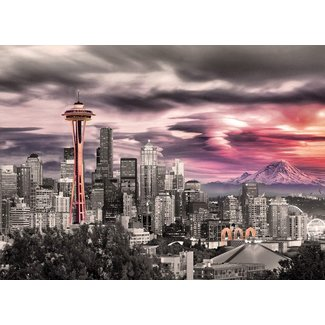Seattle City Skyline 1000 pc Puzzle