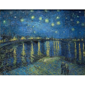 Clementoni Starry Night Over the Rhone 1000 pc Puzzle