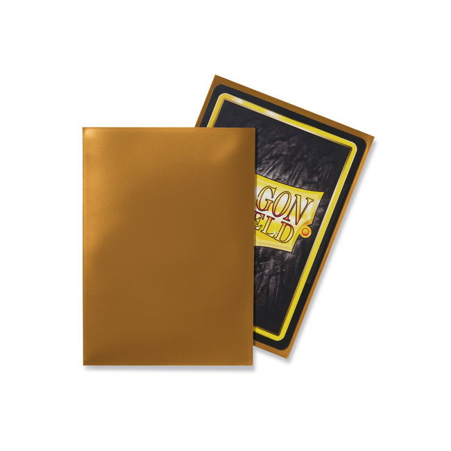 Classic Gold Standard Matte Sleeves 100 ct - Dragon Shield