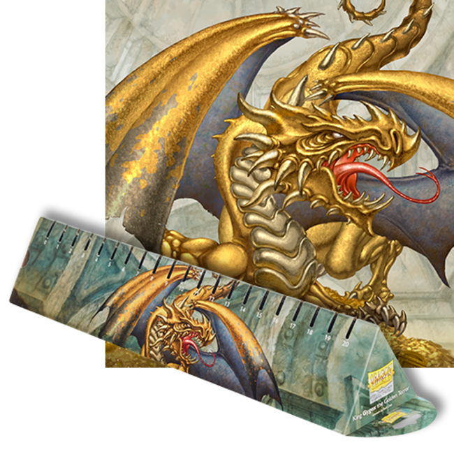 King 'Gygex' the Golden Terror LE (Gold) Playmat - Dragon Shield Format