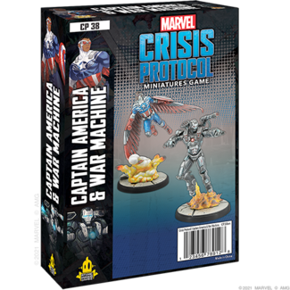 Atomic Mass Games Marvel Crisis Protocol Captain America & War Machine Character Pack