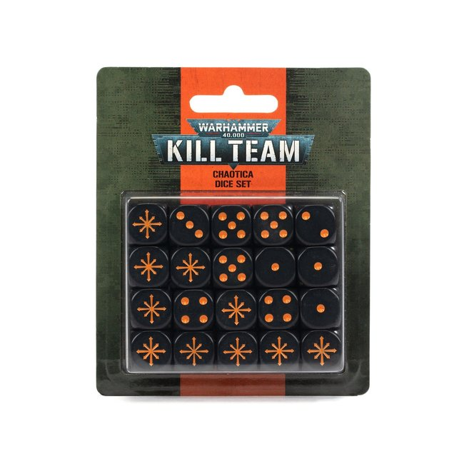 Warhammer 40k Kill Team: Chaotica Dice Set