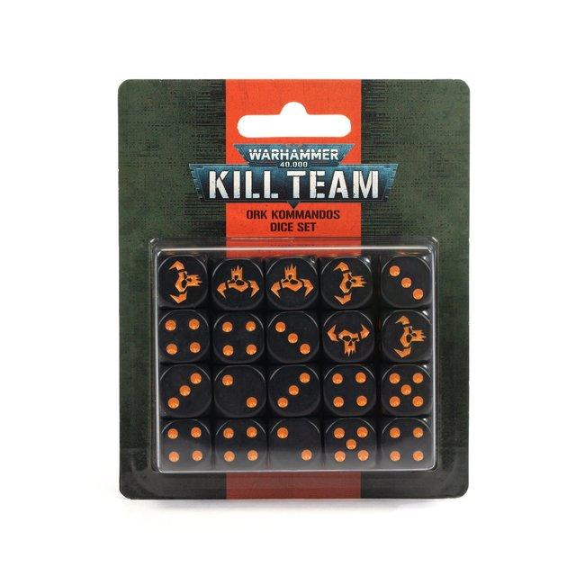 Warhammer 40k Kill Team: Ork Kommandos Dice Set