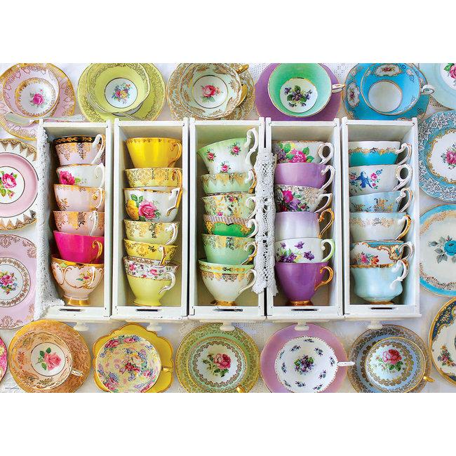 Colorful Tea Cups 1000 pc Puzzle