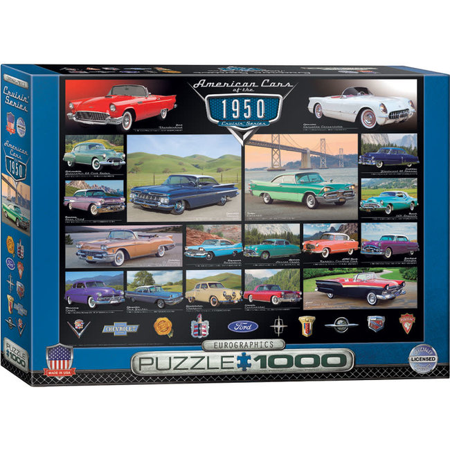American Cars of the 1950s 1000 pc Puzzle