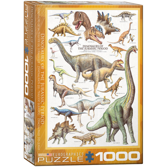 Dinosaurs of the Jurassic Period 1000 pc Puzzle