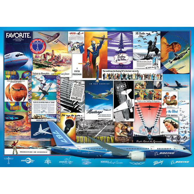 Boeing Advertising Collection 1000 pc Puzzle