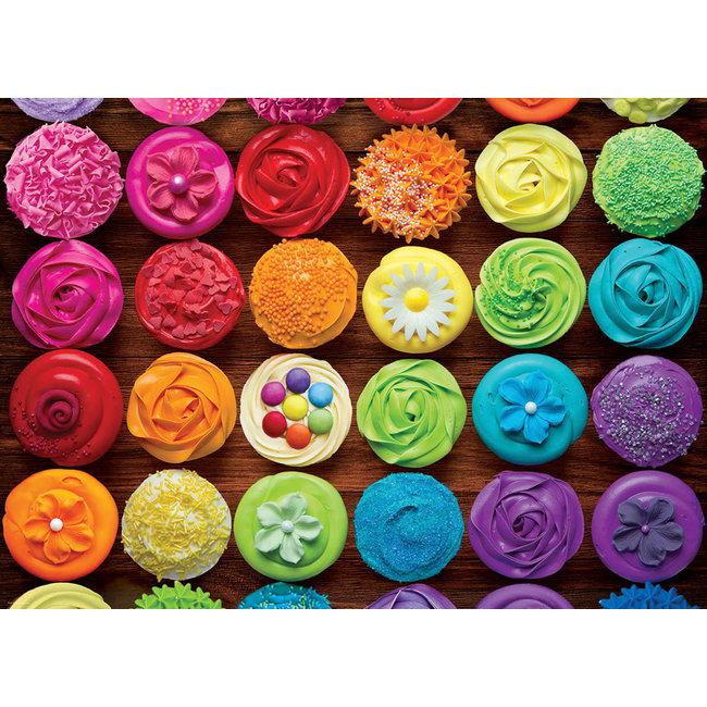 Cupcake Rainbow 1000 pc Puzzle