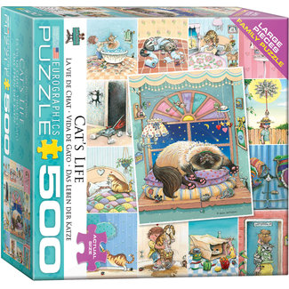 Eurographics Puzzles Cat's Life 500 pc Puzzle