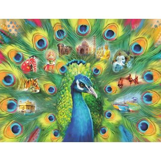 Ravensburger Land of the Peacock 2000 pc Puzzle