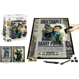 4Dpuzz Harry Potter Wanted 500 pc - Scratch Off Puzzle