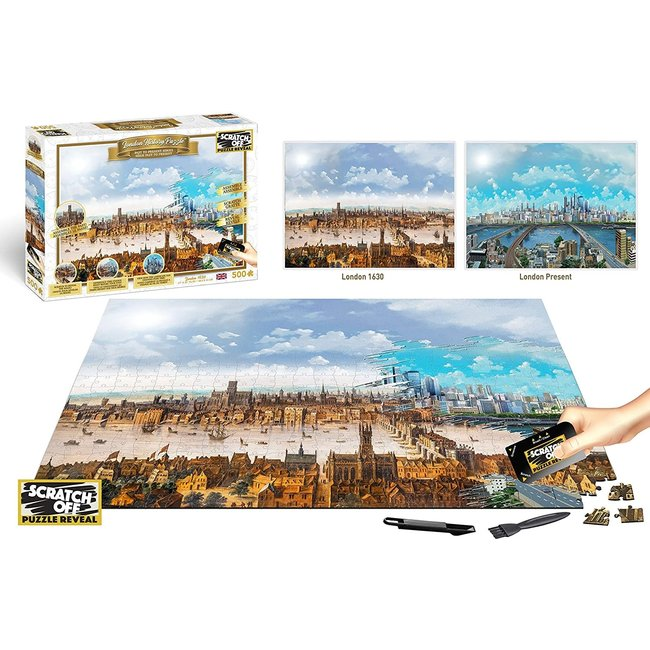 History London 500 pc - Scratch Off Puzzle