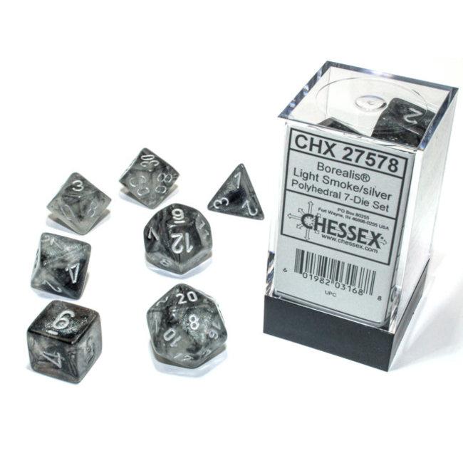 Borealis® Polyhedral 7-Die Set Light Smoke/silver Luminary™