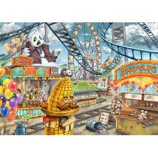 Ravensburger Amusement Park Plight Escape Puzzle Kids 368 pc Puzzle