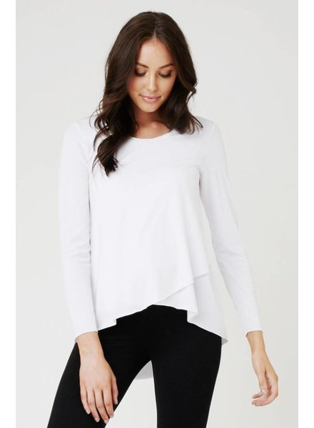 Ripe White 'Raw Edge' Nursing Top