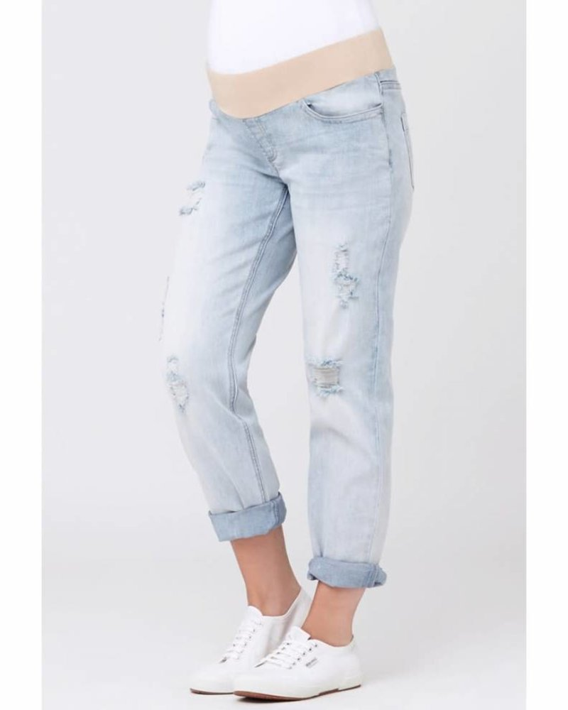 Ripe Ripe Maternity 'Baxter' Boyfriend Jeans in Clean Fade (Medium) **FINAL SALE**