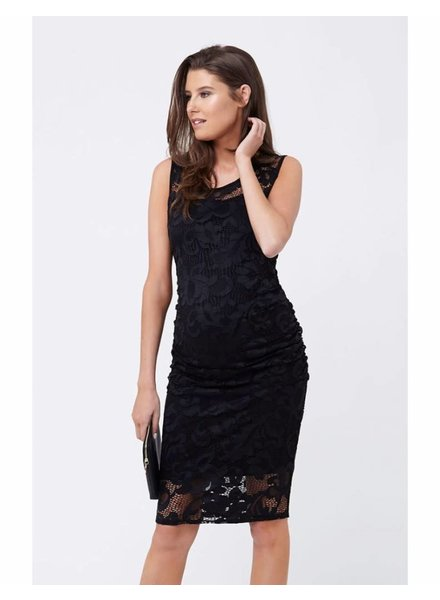 Ripe Black 'Eden' Lace Maternity Dress (Medium) **FINAL SALE**