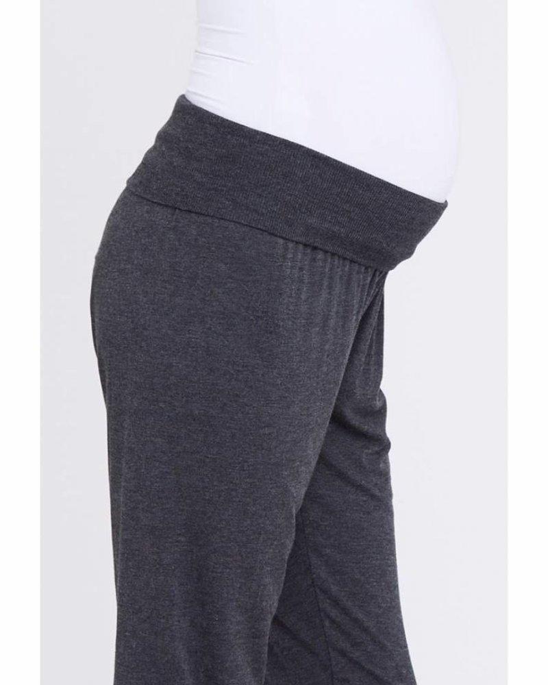 Ripe Ripe Maternity Charcoal Marle 'Chillin' Lounge Pant